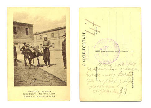 WWI Greek Macedonia ethnic Milkman postcard R