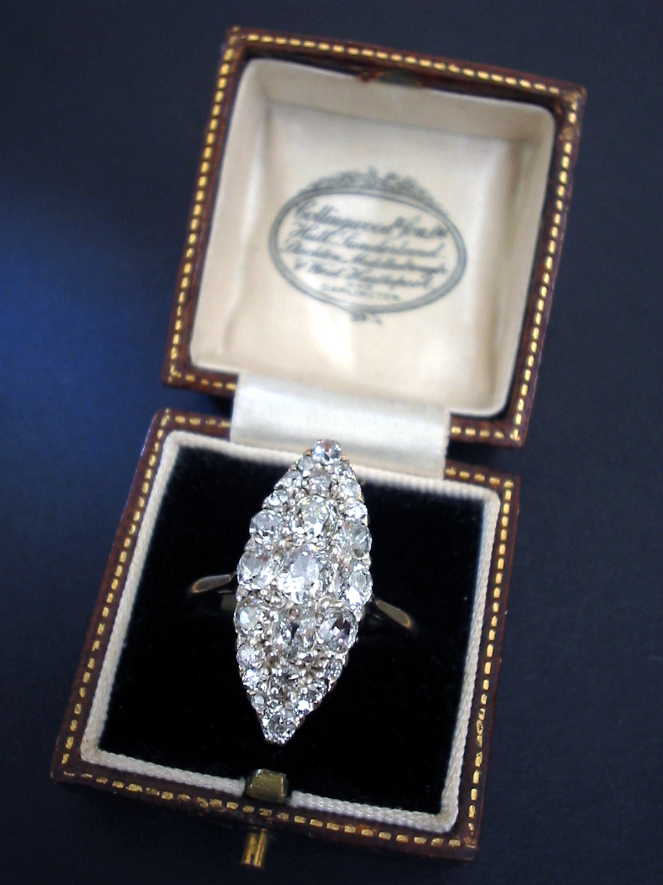 Victorian Marquise shape Diamond ring 2.5ct. in ...