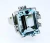 1950 Danish Modernist Aquamarine Diamond Ring