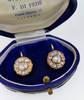 Georgian Rose Cut Diamond Cluster Earrings