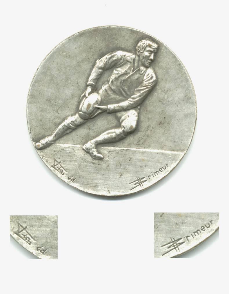 Vintage British Rugby Football Medal Plaque R